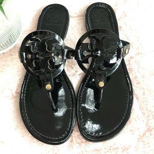 Tory Burch Shoes - {Tory Burch} Black Patent Miller Sandals